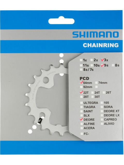 Shimano Deore FC-M510 kettingblad 64 mm, 22 tanden zilver